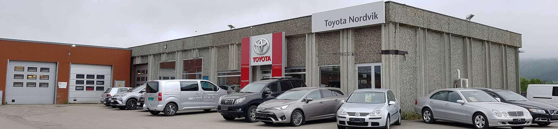 Fasade til Toyota forhandleren Nordvik på Leknes