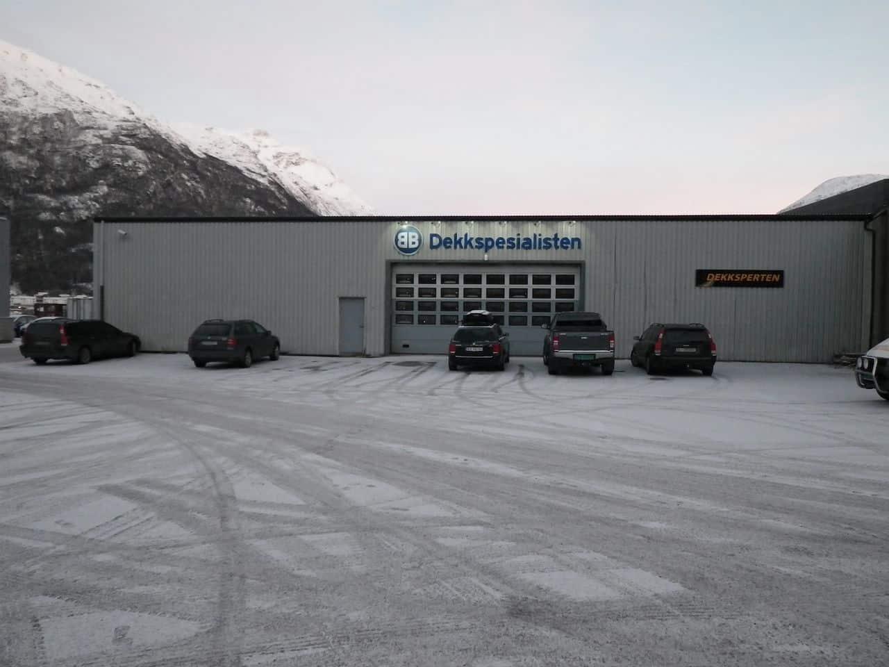 Fasadebilde av BB Dekkspesialisten i Narvik