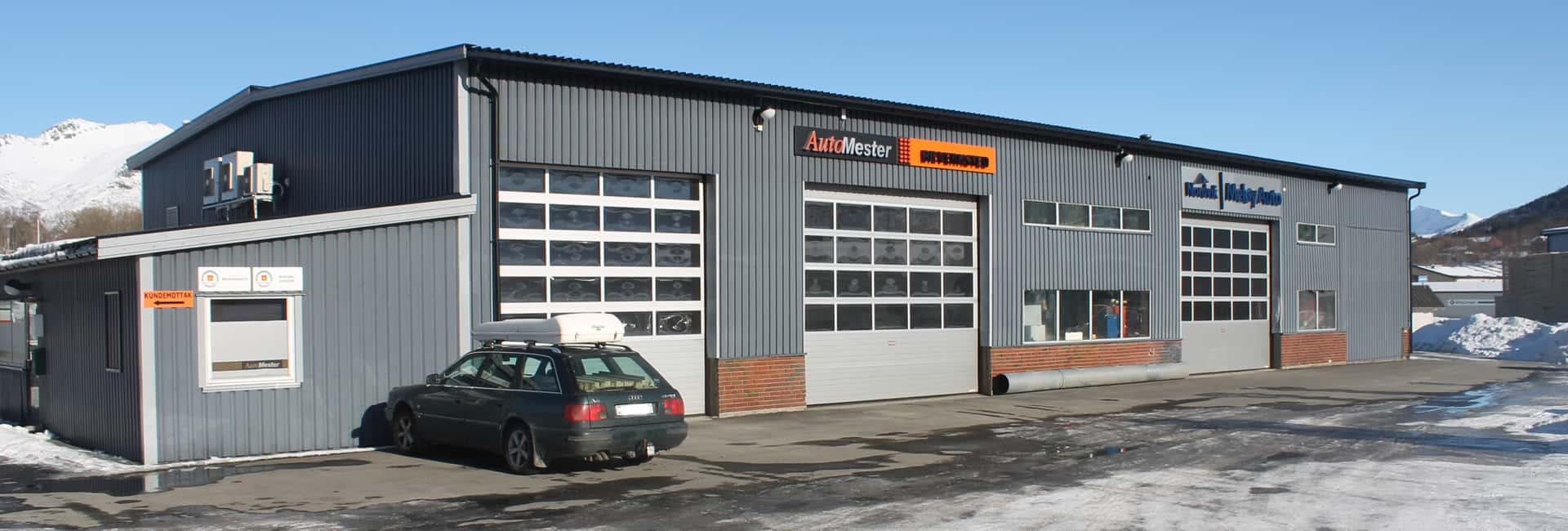 Bilde av fasaden til bilverkstedet Nordvik på Halsa
