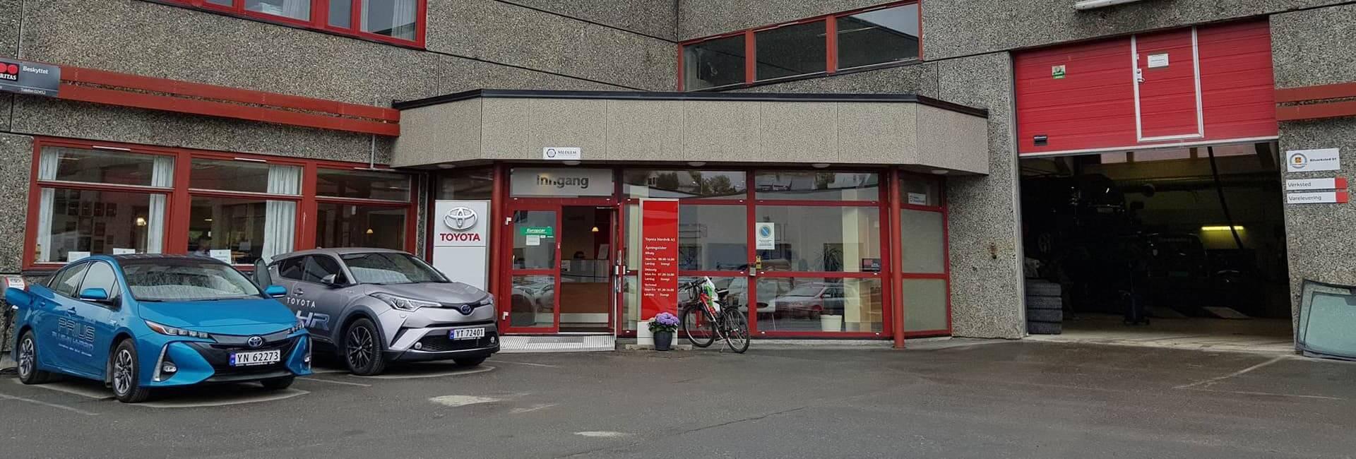 Bilde av fasaden til Toyota forhandleren til Nordvik i Svolvær