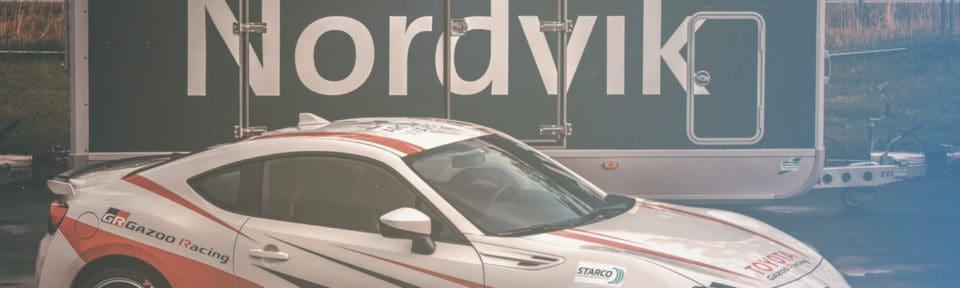 Nordvik fagskole sin Toyota GT86 med Gazoo Racing dekor