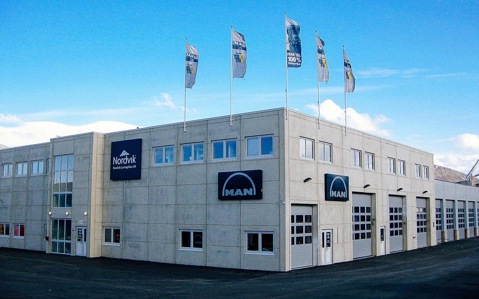 Fasade til Nordvik Last og Buss i Tromsø